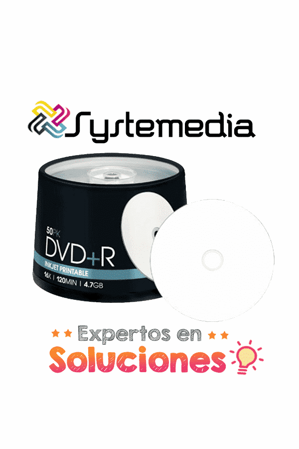 DVD+R Imprimible 50 unidades
