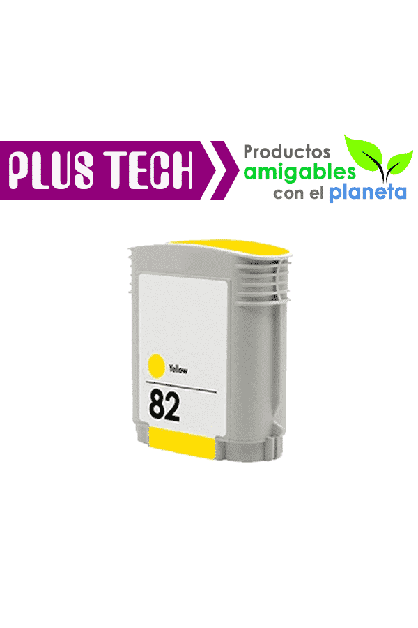 C4913A Tinta HP 82 Color Amarillo – Yellow